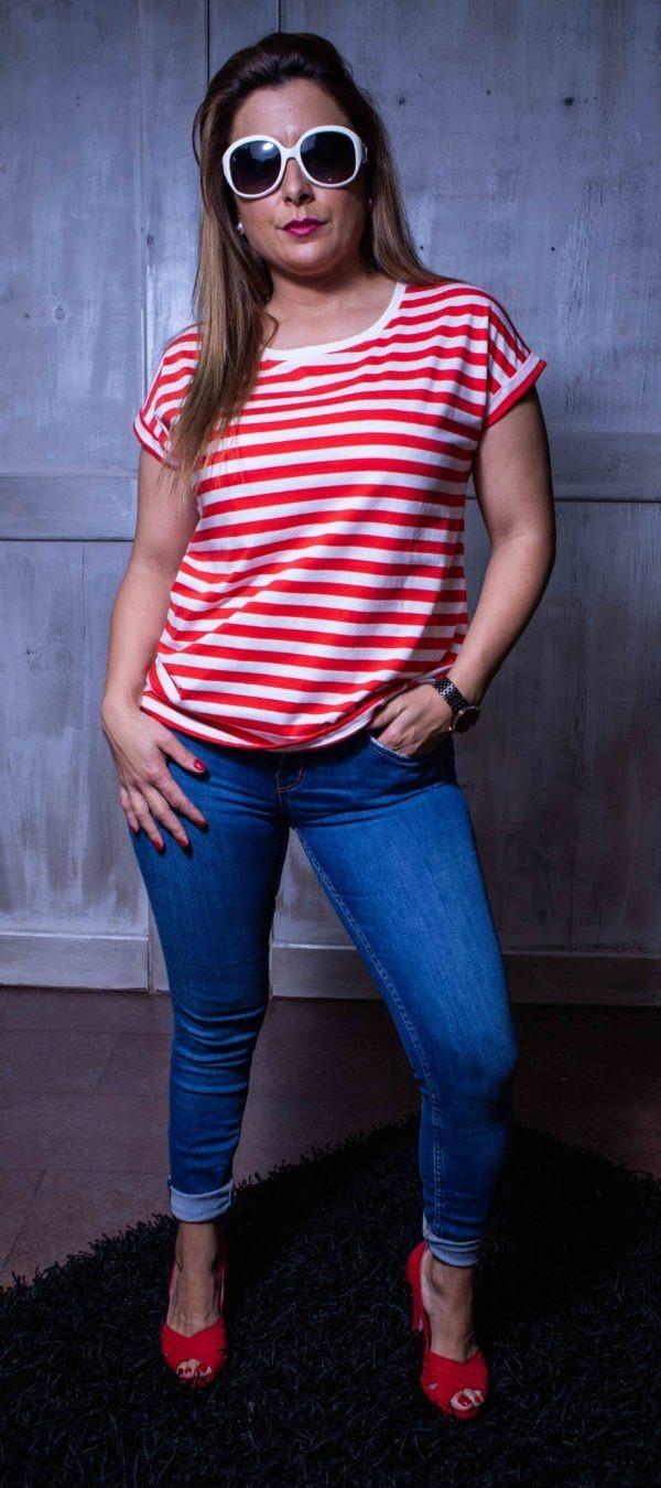 Camiseta algodón de Rayas